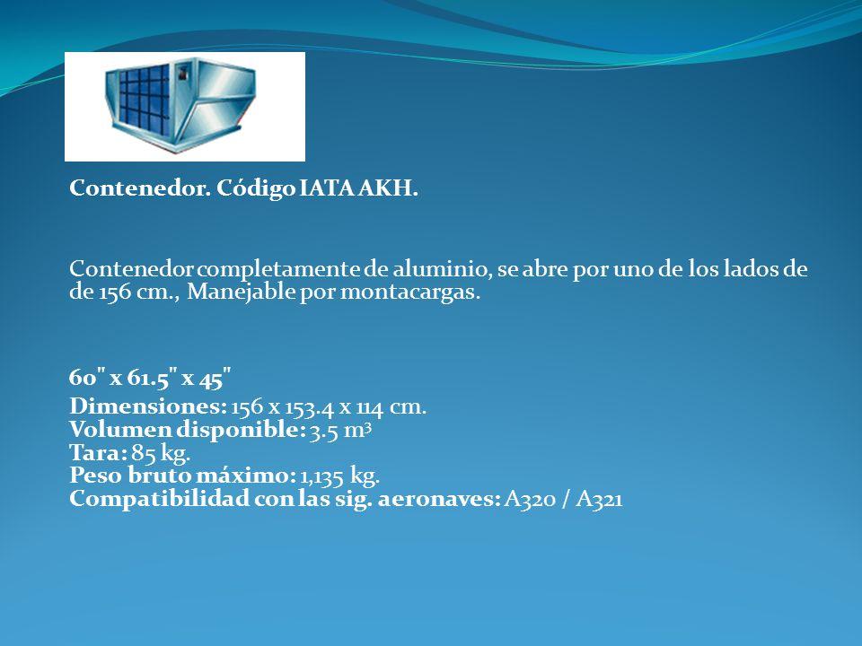 Contenedor. Código IATA AKH.