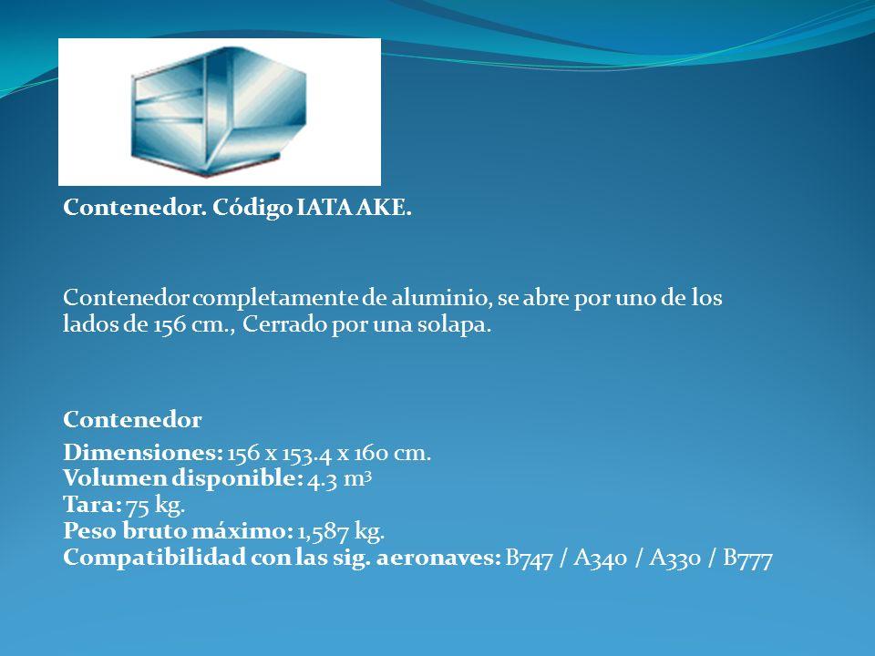 Contenedor. Código IATA AKE.