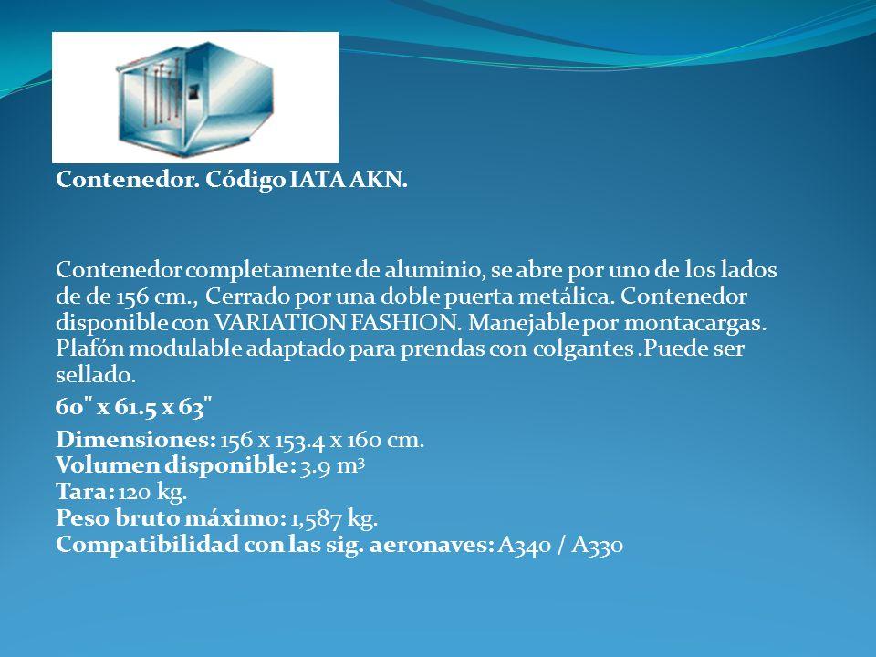 Contenedor. Código IATA AKN.