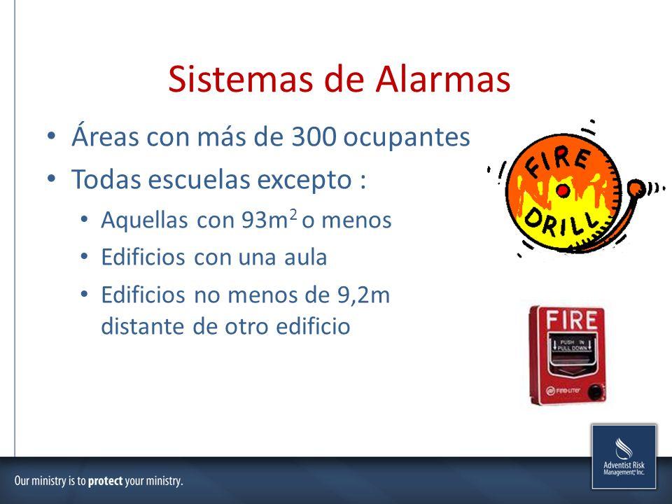 Sistemas de Alarmas Áreas con más de 300 ocupantes
