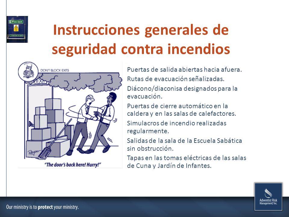 Instrucciones generales de seguridad contra incendios