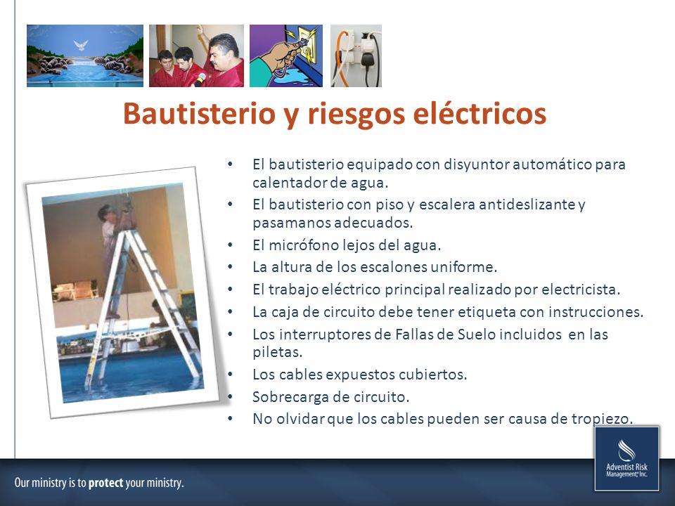 Bautisterio y riesgos eléctricos
