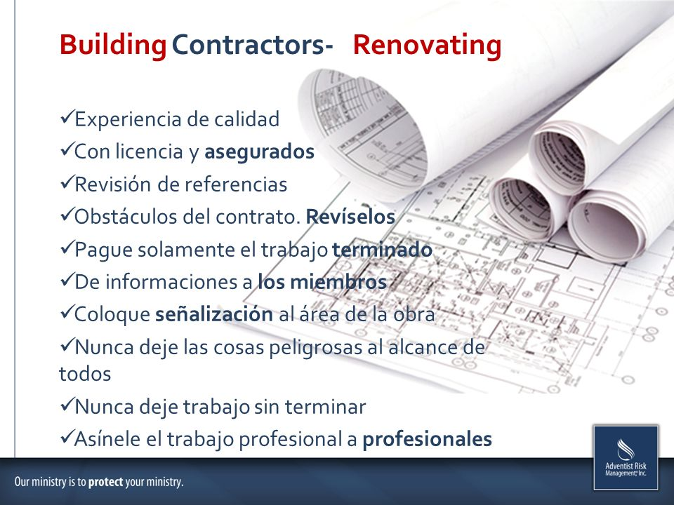 Building Contractors- Renovating