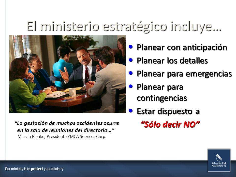 El ministerio estratégico incluye…