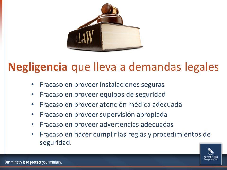 Negligencia que lleva a demandas legales