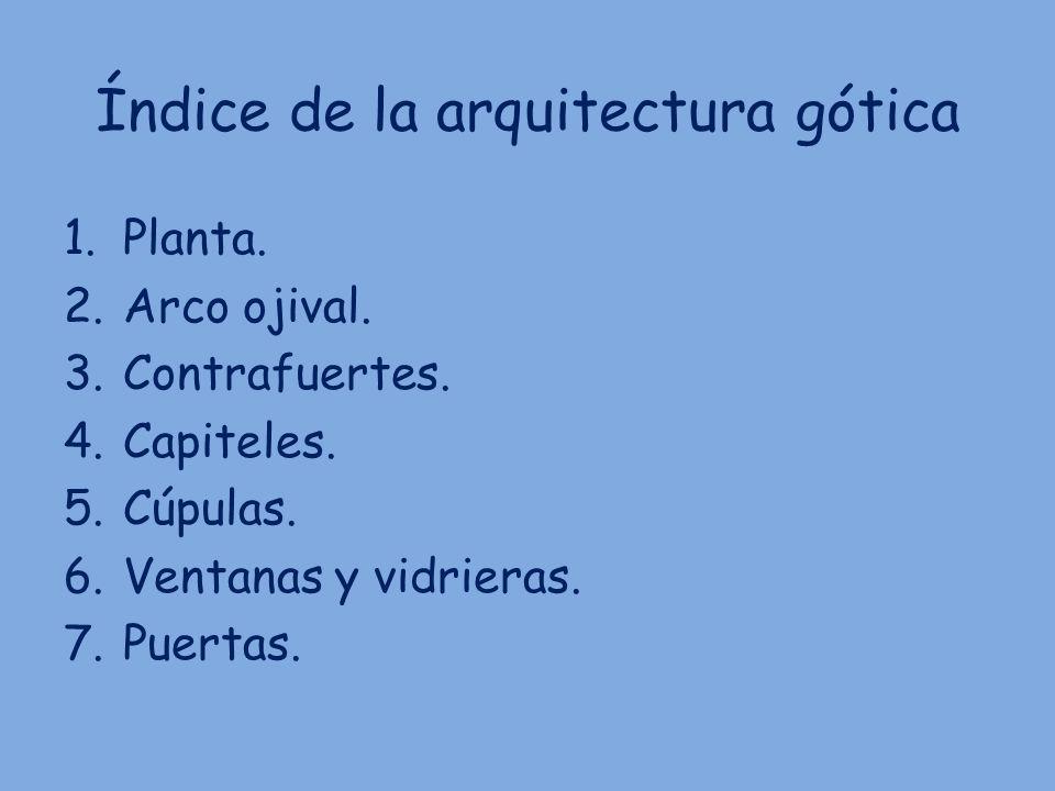 Índice de la arquitectura gótica
