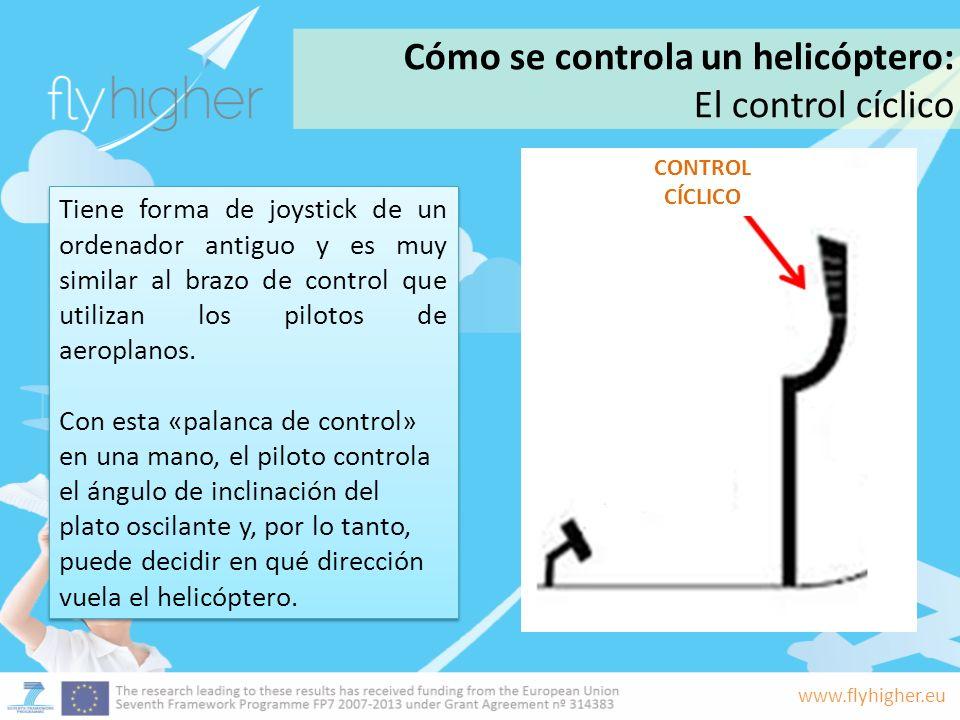 Cómo se controla un helicóptero: El control cíclico