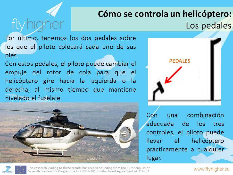 Cómo se controla un helicóptero: Los pedales