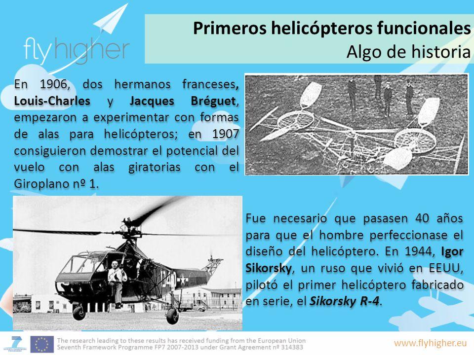 Primeros helicópteros funcionales Algo de historia