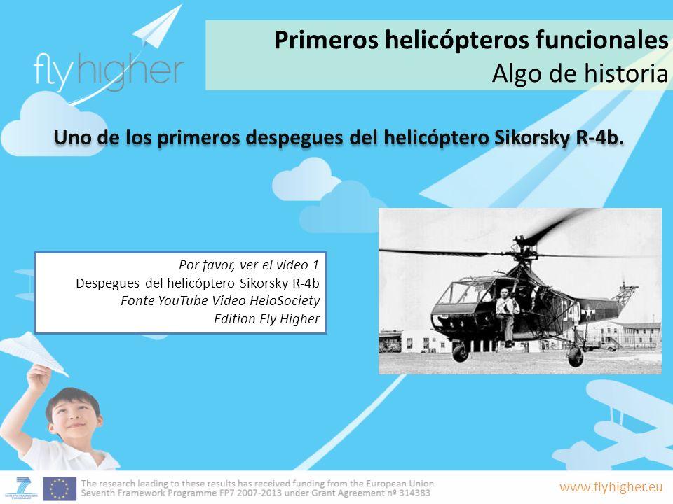 Uno de los primeros despegues del helicóptero Sikorsky R-4b.