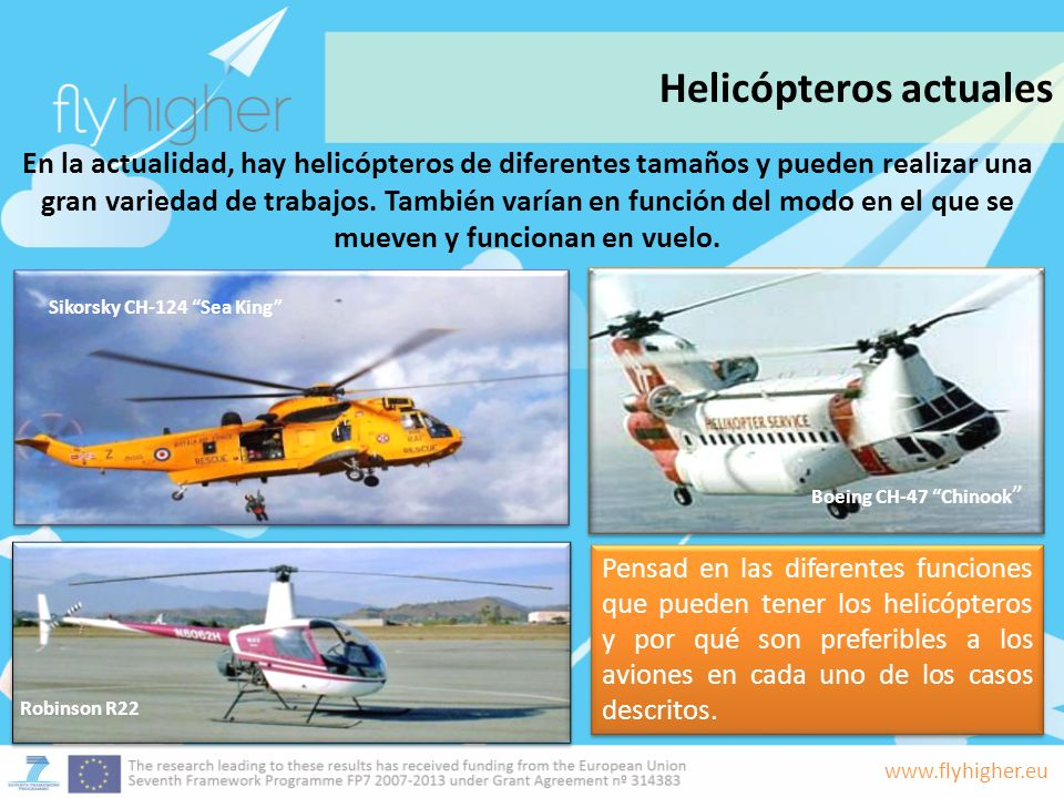 Helicópteros actuales