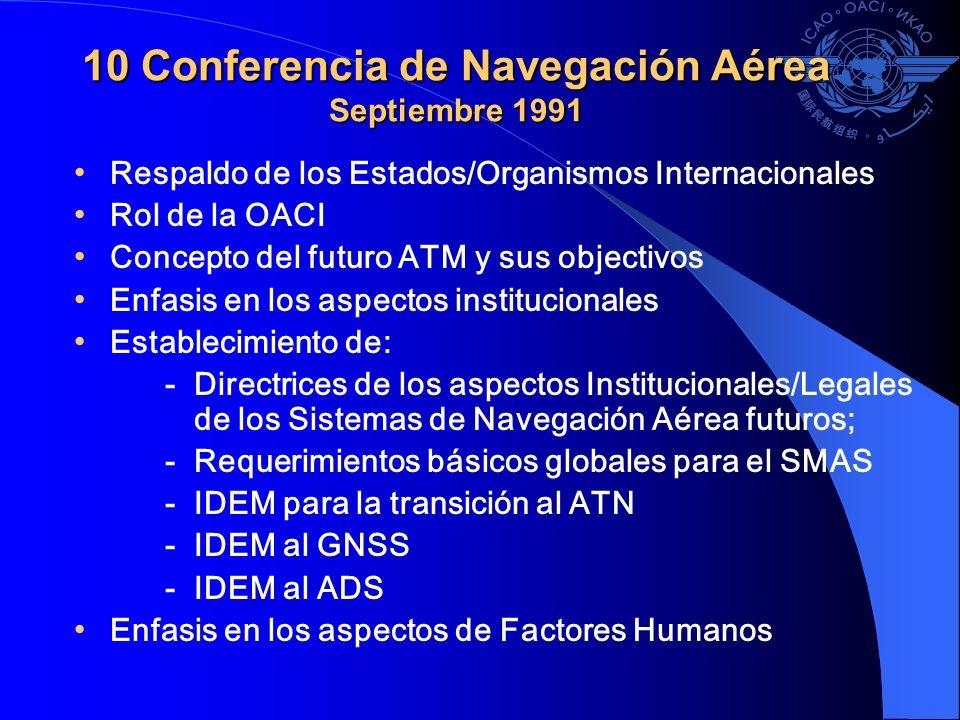 10 Conferencia de Navegación Aérea Septiembre 1991