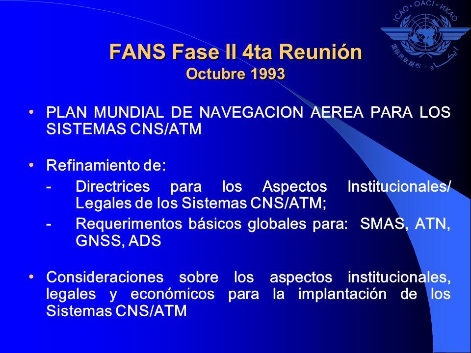 FANS Fase II 4ta Reunión Octubre 1993