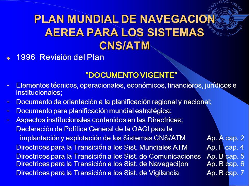 PLAN MUNDIAL DE NAVEGACION AEREA PARA LOS SISTEMAS CNS/ATM