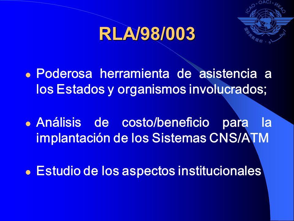 RLA/98/003 Poderosa herramienta de asistencia a los Estados y organismos involucrados;