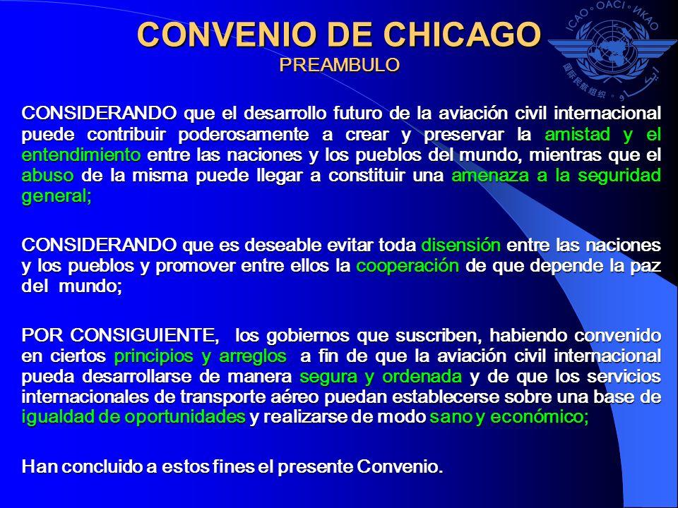 CONVENIO DE CHICAGO PREAMBULO