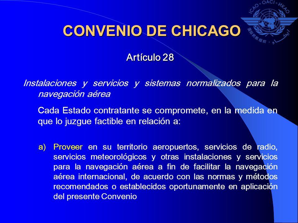 CONVENIO DE CHICAGO Artículo 28