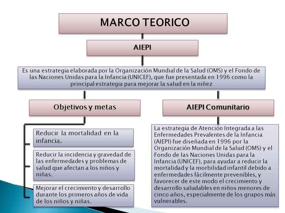 MARCO TEORICO AIEPI Objetivos y metas AIEPI Comunitario