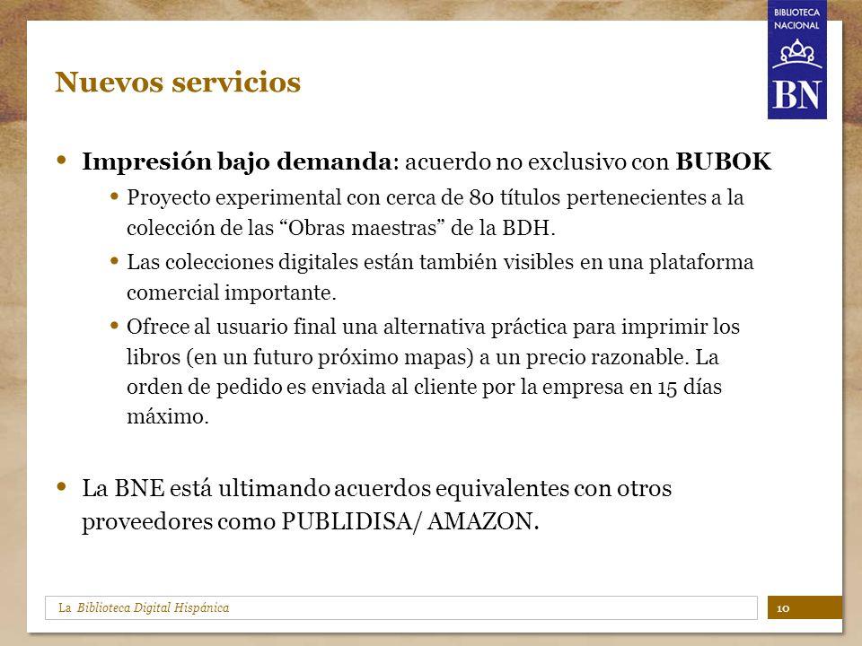 Nuevos servicios Impresión bajo demanda: acuerdo no exclusivo con BUBOK.