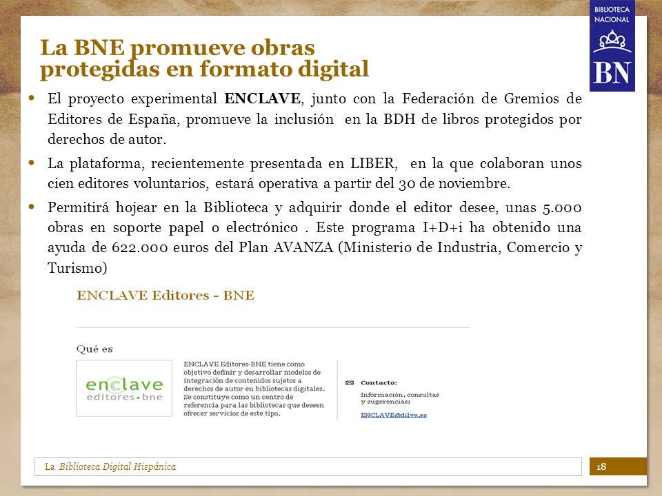 La BNE promueve obras protegidas en formato digital