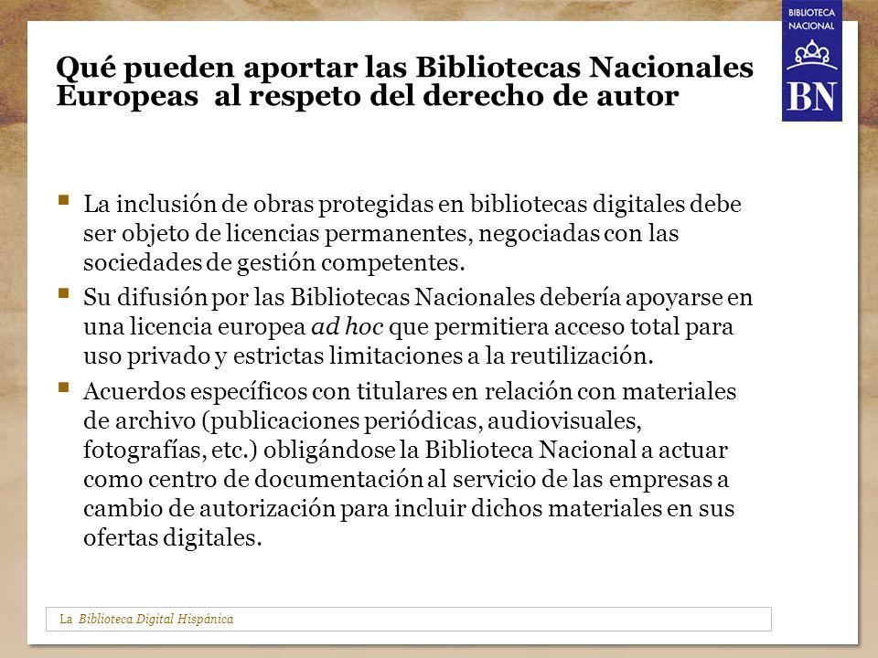 Qué pueden aportar las Bibliotecas Nacionales Europeas al respeto del derecho de autor