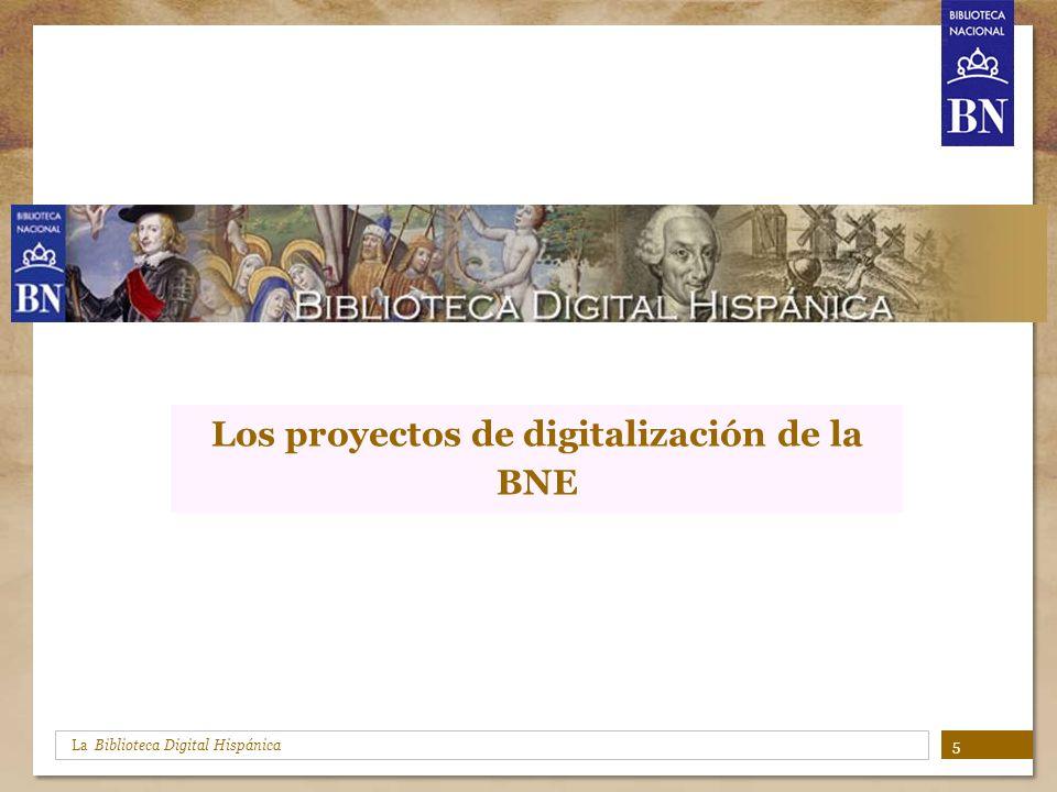 Los proyectos de digitalización de la BNE