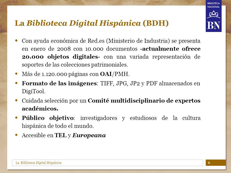La Biblioteca Digital Hispánica (BDH)