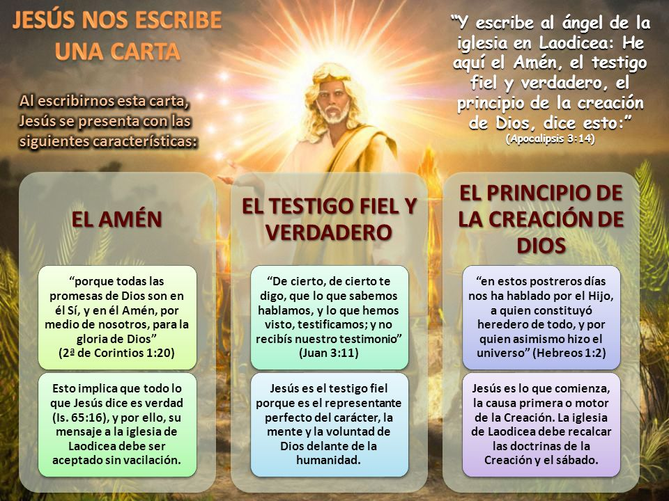 JESÚS NOS ESCRIBE UNA CARTA