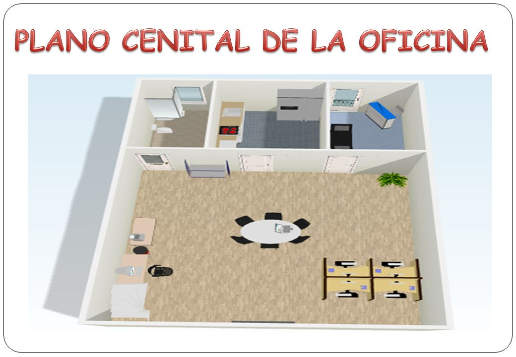 PLANO CENITAL DE LA OFICINA