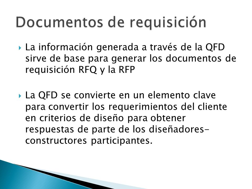 Documentos de requisición