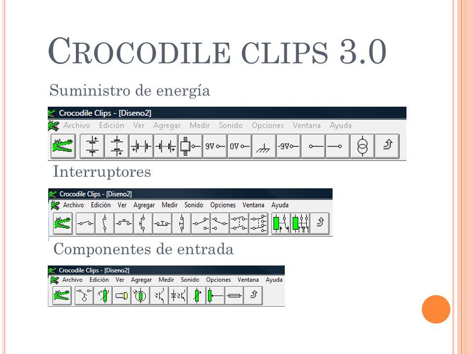 Crocodile clips 3.0 Suministro de energía Interruptores