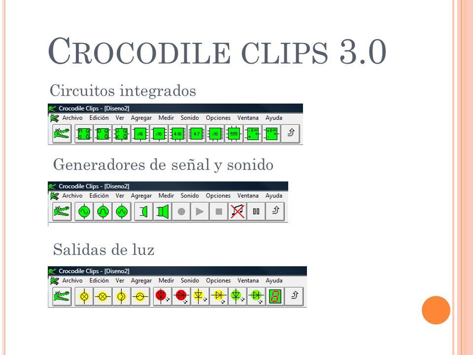 Crocodile clips 3.0 Circuitos integrados Generadores de señal y sonido