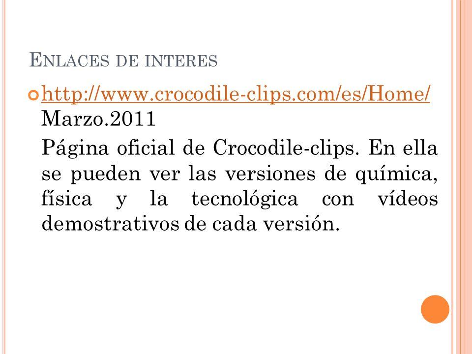 http://www.crocodile-clips.com/es/Home/ Marzo.2011