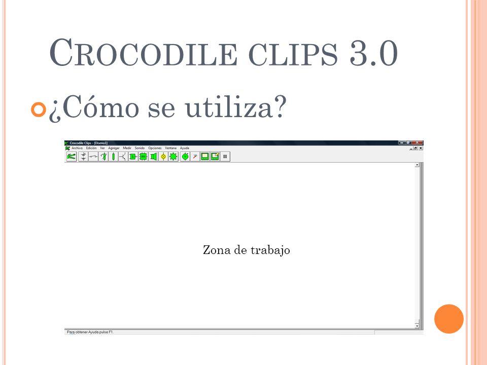 Crocodile clips 3.0 ¿Cómo se utiliza Zona de trabajo