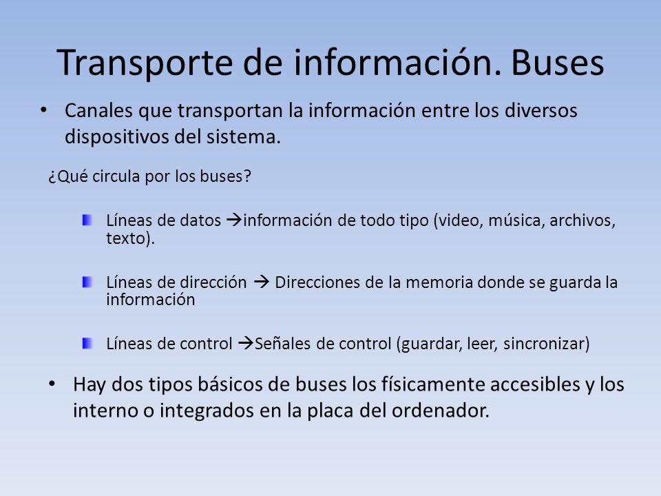 Transporte de información. Buses