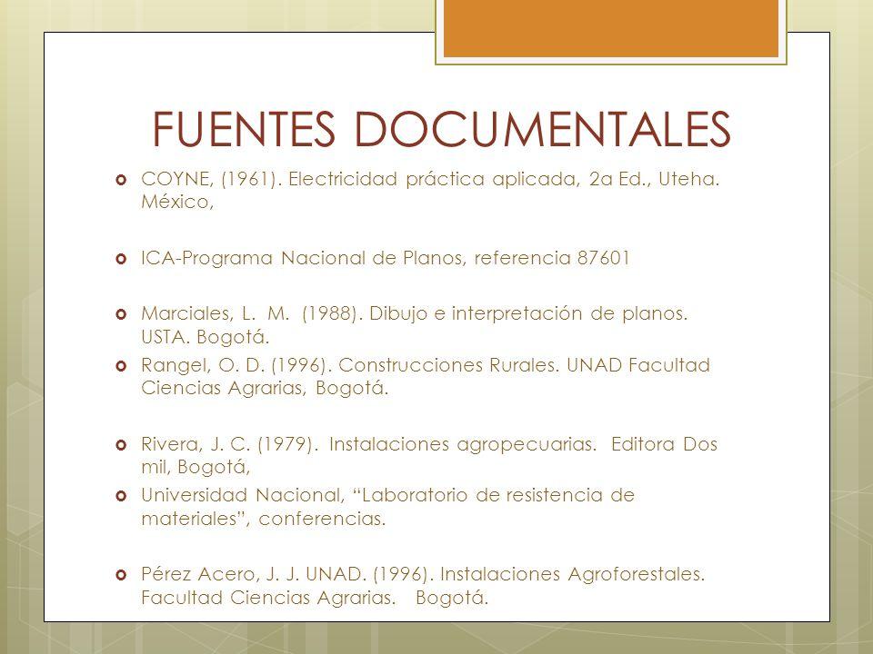 FUENTES DOCUMENTALES COYNE, (1961). Electricidad práctica aplicada, 2a Ed., Uteha. México, ICA-Programa Nacional de Planos, referencia 87601.