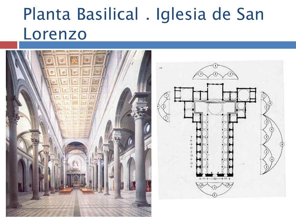 Planta Basilical . Iglesia de San Lorenzo