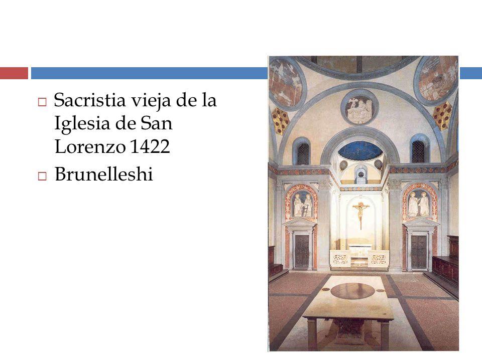 Sacristia vieja de la Iglesia de San Lorenzo 1422