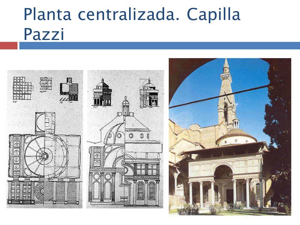 Planta centralizada. Capilla Pazzi