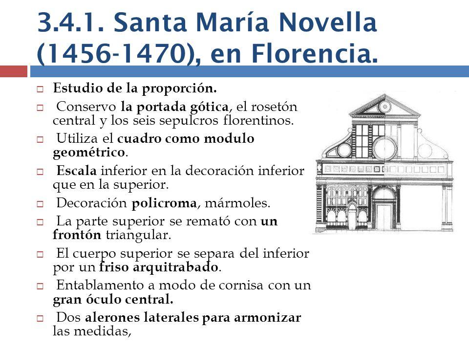 3.4.1. Santa María Novella (1456-1470), en Florencia.