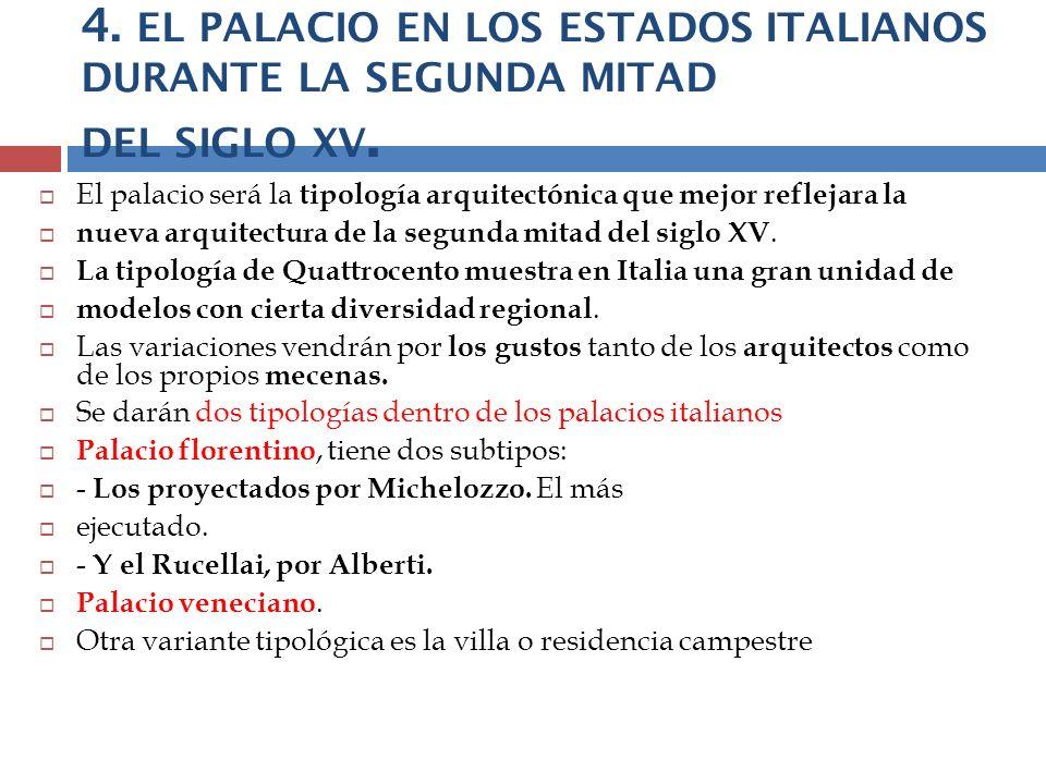 4. EL PALACIO EN LOS ESTADOS ITALIANOS DURANTE LA SEGUNDA MITAD DEL SIGLO XV.