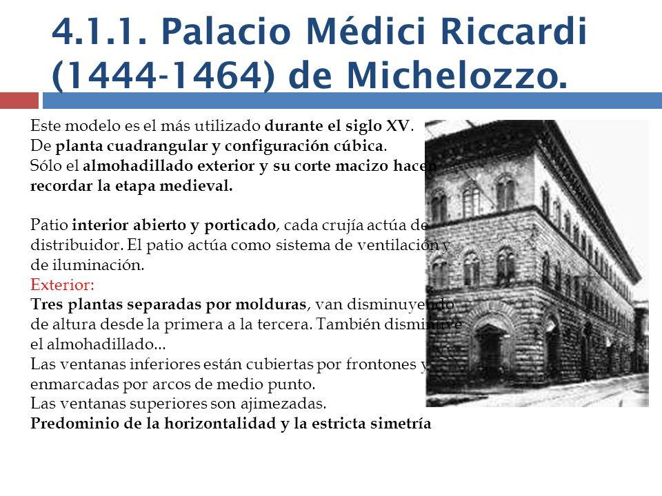 4.1.1. Palacio Médici Riccardi (1444-1464) de Michelozzo.
