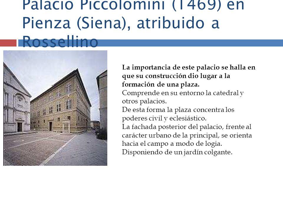 Palacio Piccolomini (1469) en Pienza (Siena), atribuido a Rossellino