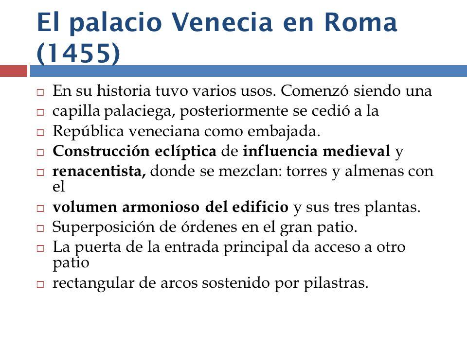El palacio Venecia en Roma (1455)
