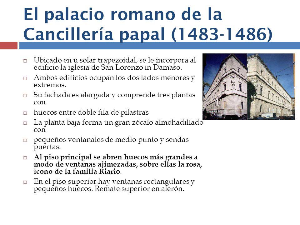 El palacio romano de la Cancillería papal (1483-1486)