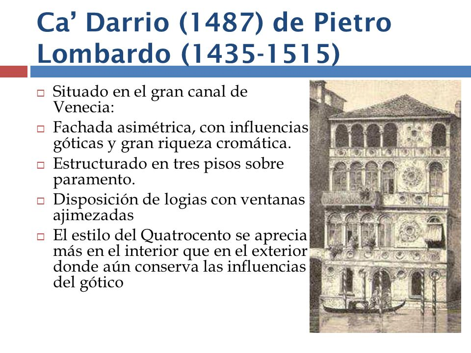 Ca' Darrio (1487) de Pietro Lombardo (1435-1515)