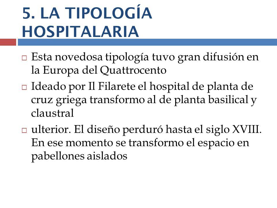 5. LA TIPOLOGÍA HOSPITALARIA