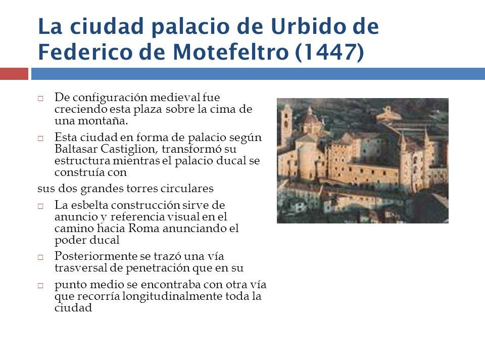 La ciudad palacio de Urbido de Federico de Motefeltro (1447)