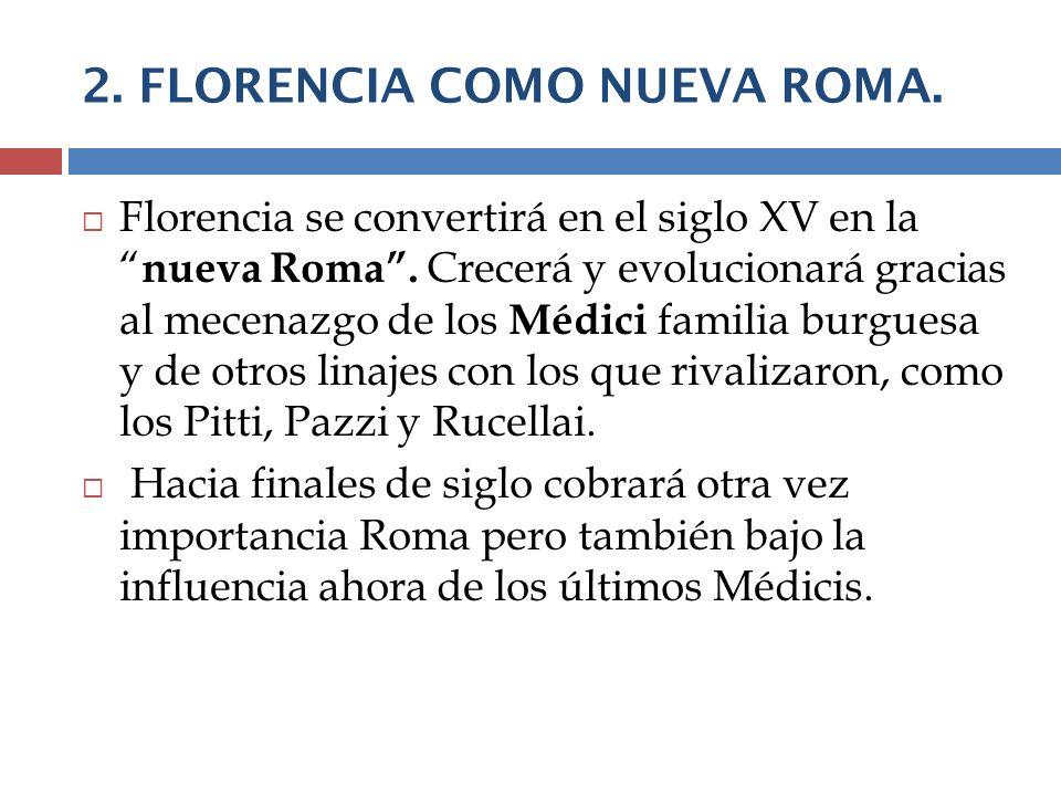 2. FLORENCIA COMO NUEVA ROMA.