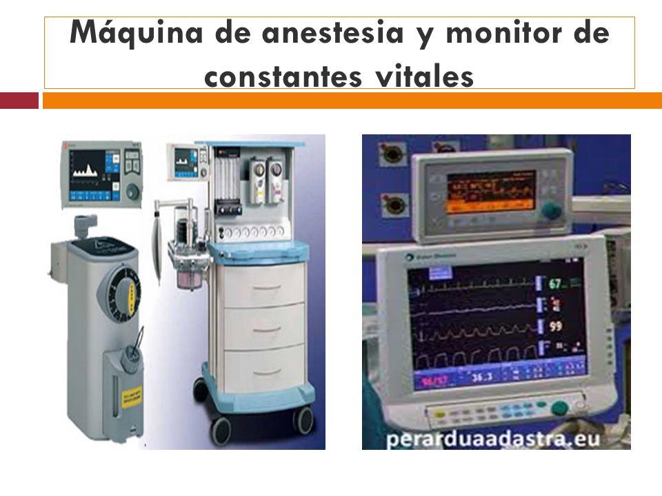 Máquina de anestesia y monitor de constantes vitales